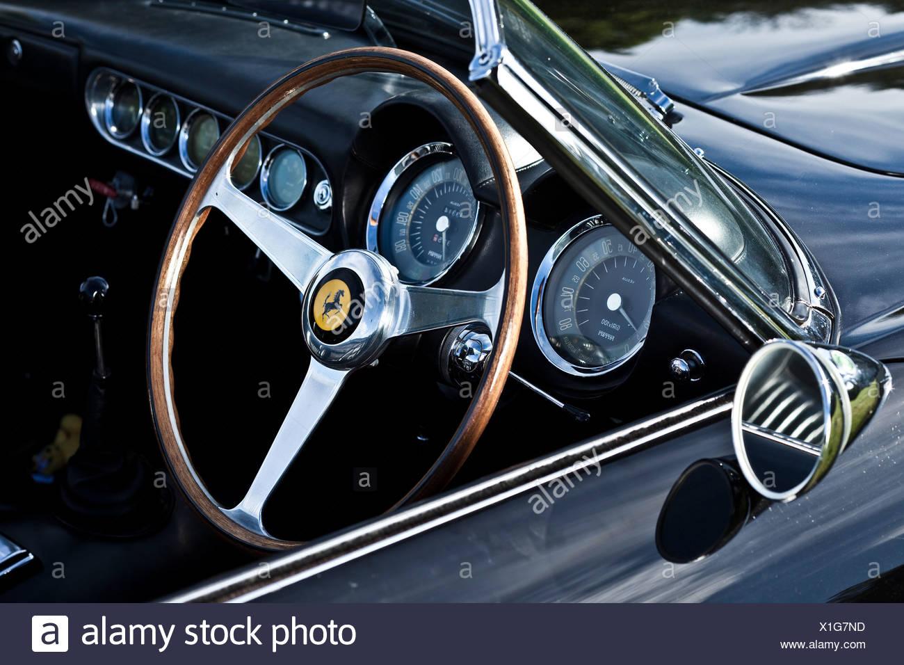 Dashboard Interior Of Ferrari California Sports Car Stock Photo
