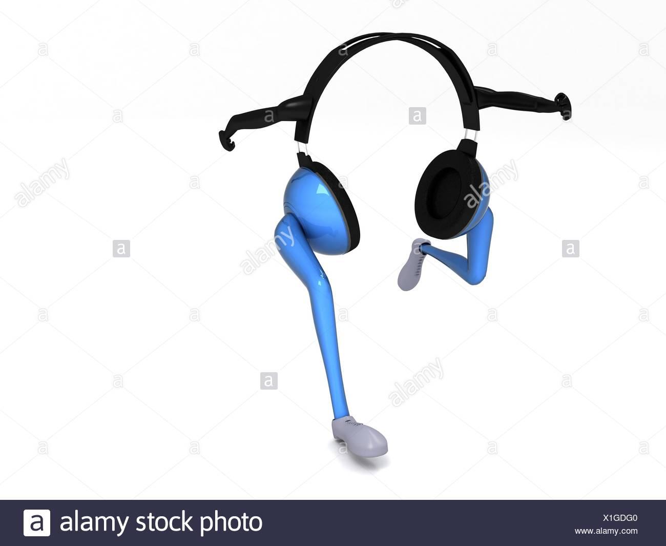 running headphone - Stock Image