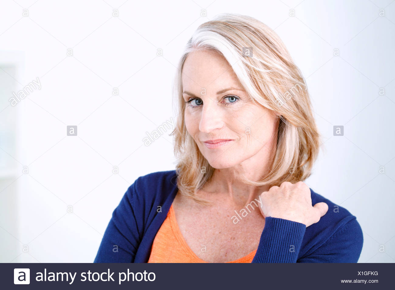 PORTRAIT WOMAN IN 50S - Stock Image