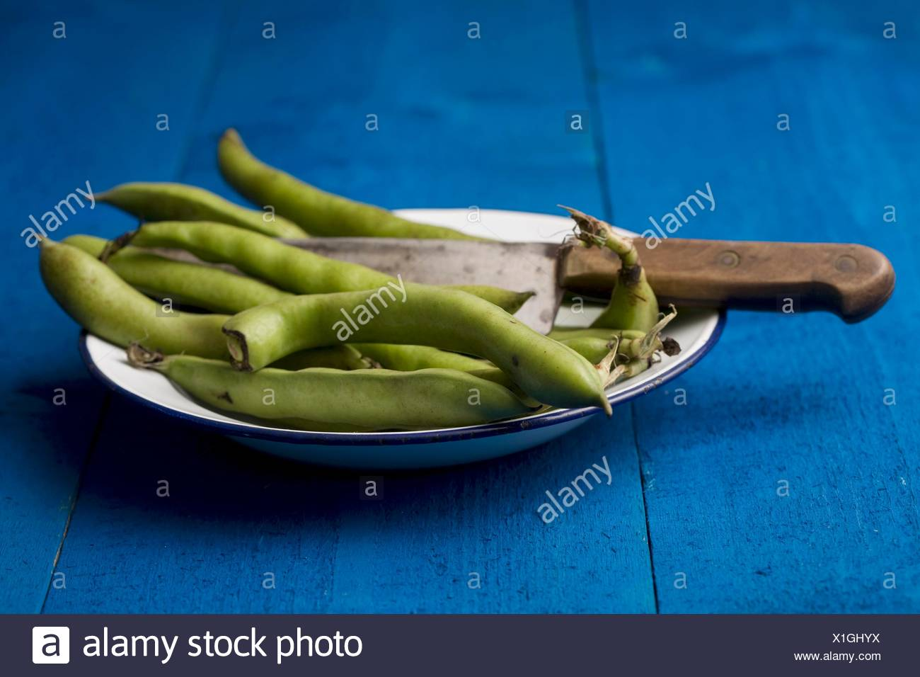 Broad beans - Stock Image