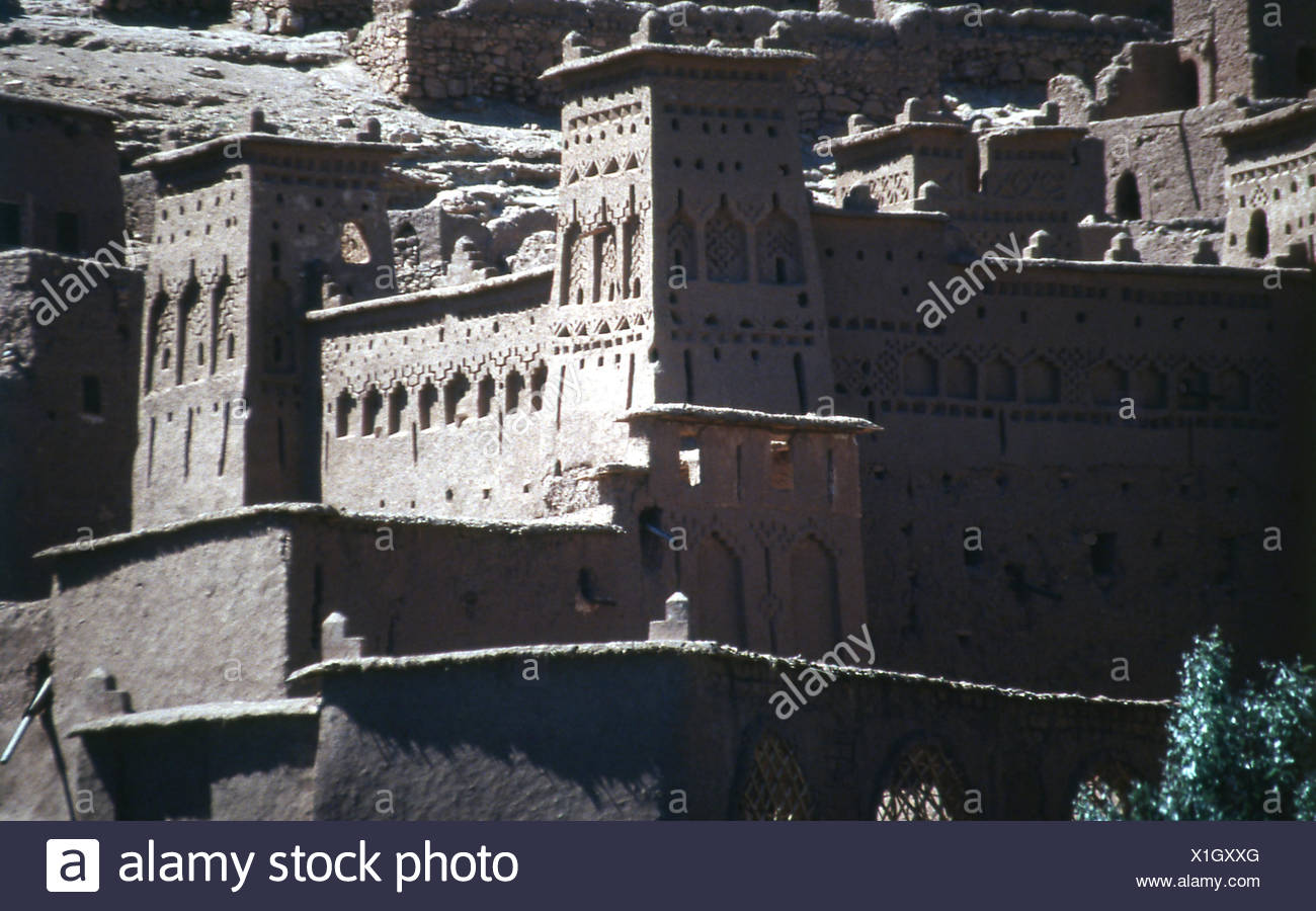 House, Kasbah, fortress, Morocco - Stock Image