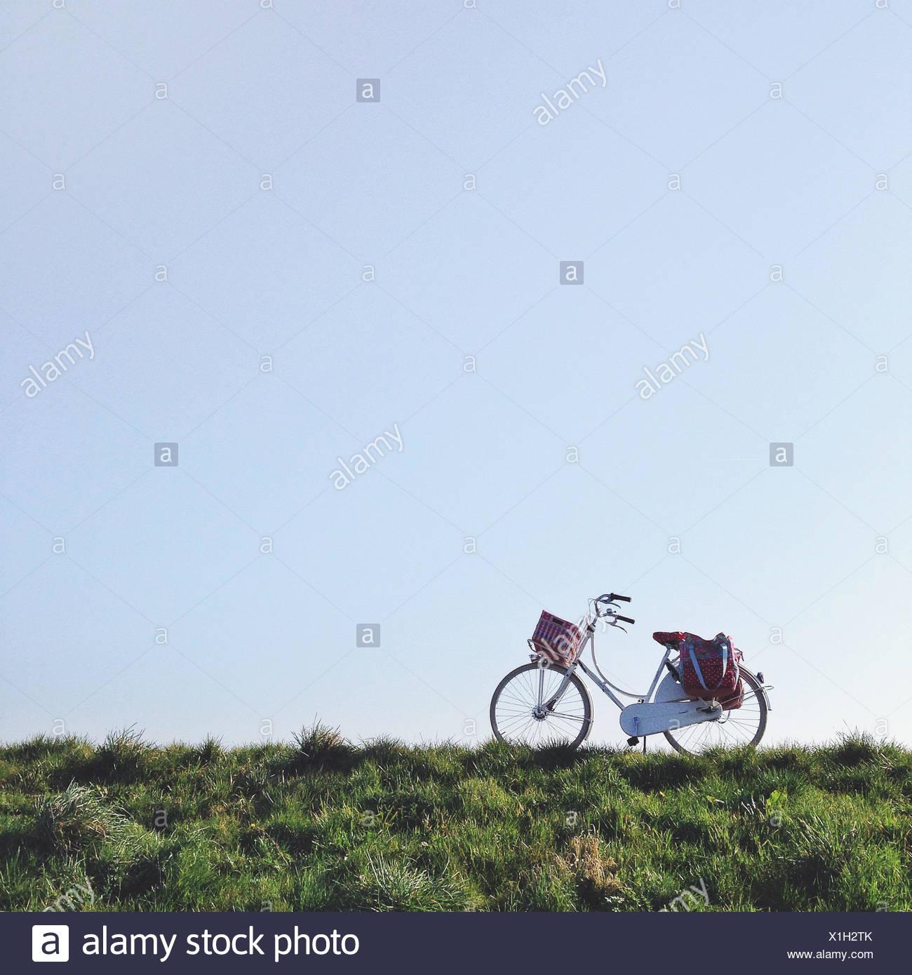 Netherlands, Blaricum, Dutch bike - Stock Image