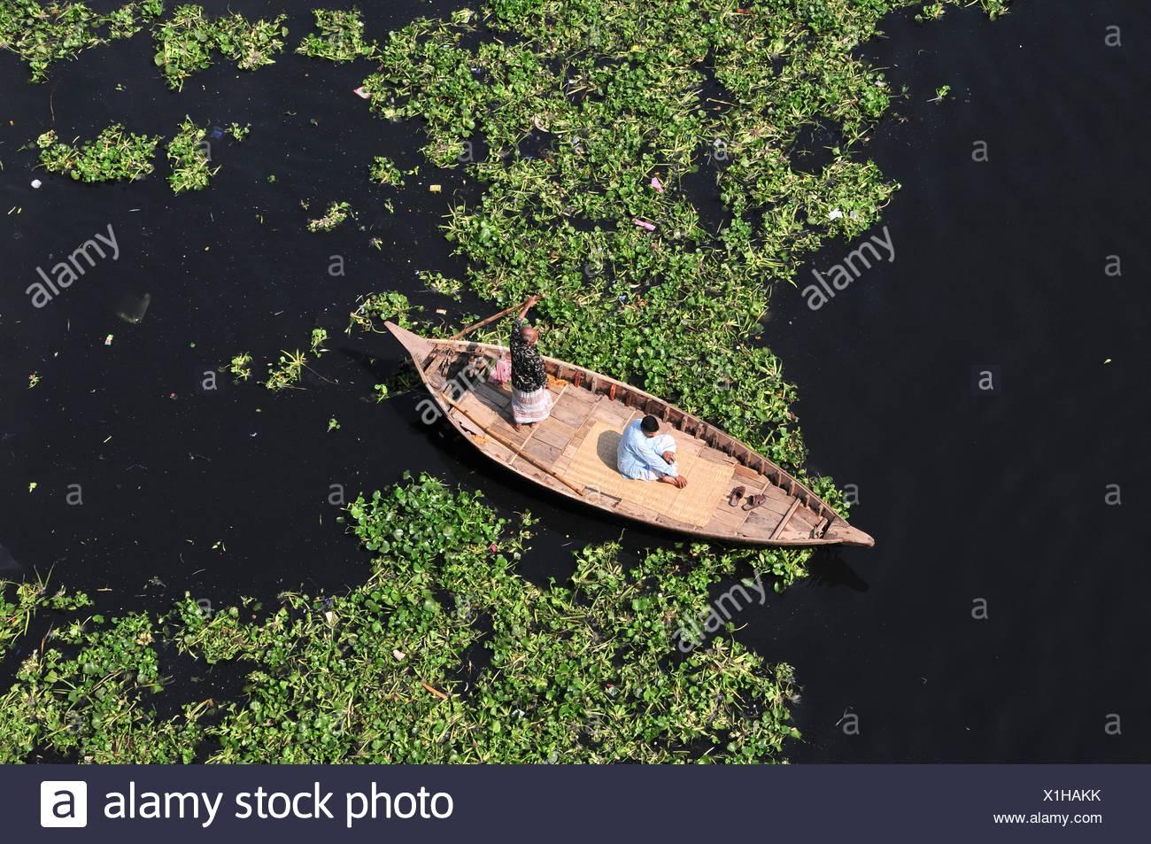 Bangladesh, Dhaka, boat on Brahmaputra river - Stock Image