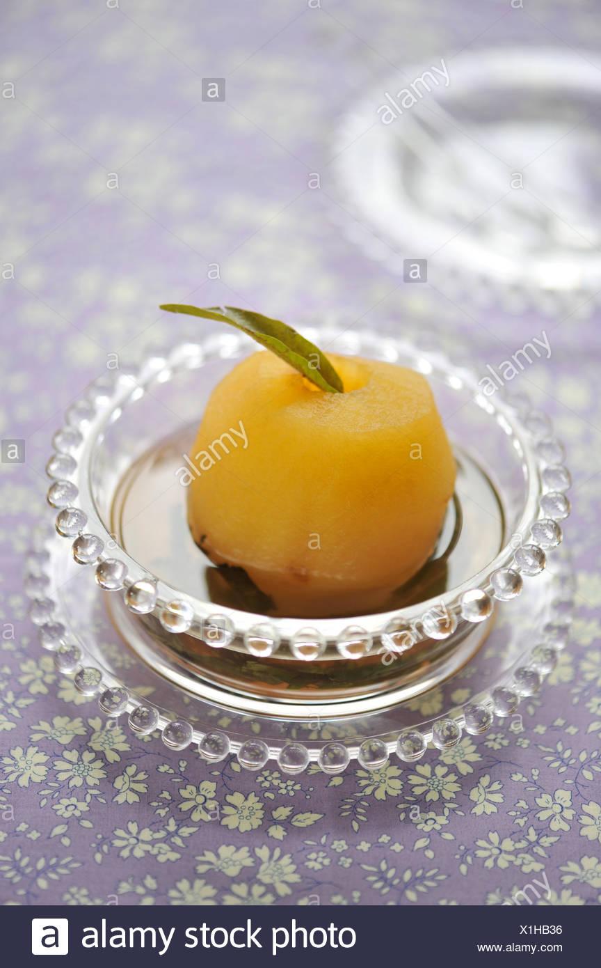 Poached Apple in Verbena - Stock Image
