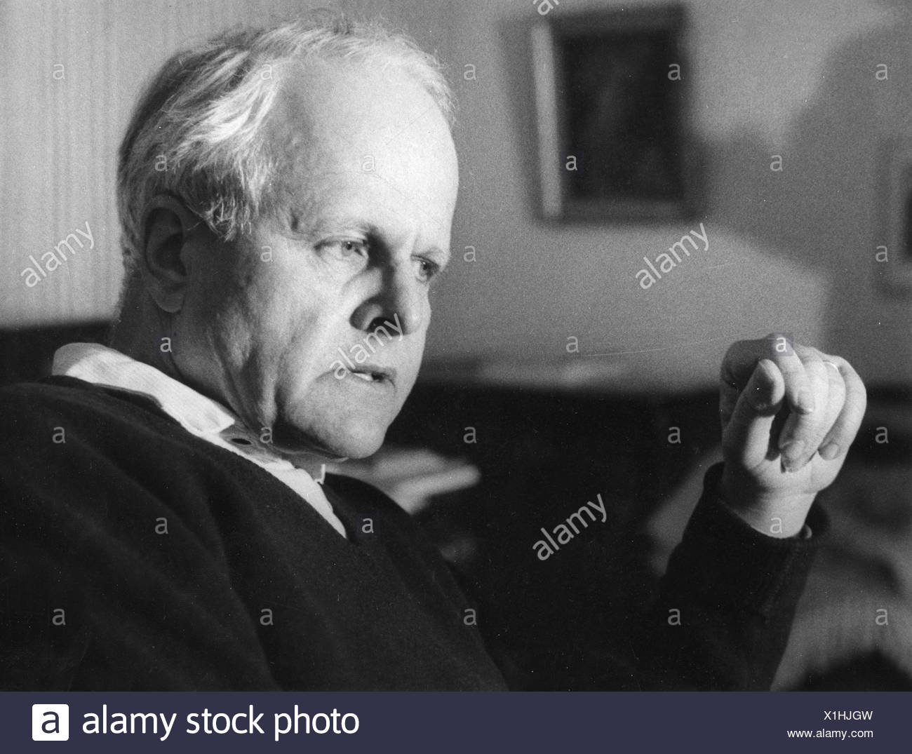 Weizsäcker, Carl Friedrich von, 28.6.1912 - 28.4.2007, German scientist (physics) and philosopher, portrait, 1971, Additional-Rights-Clearances-NA - Stock Image