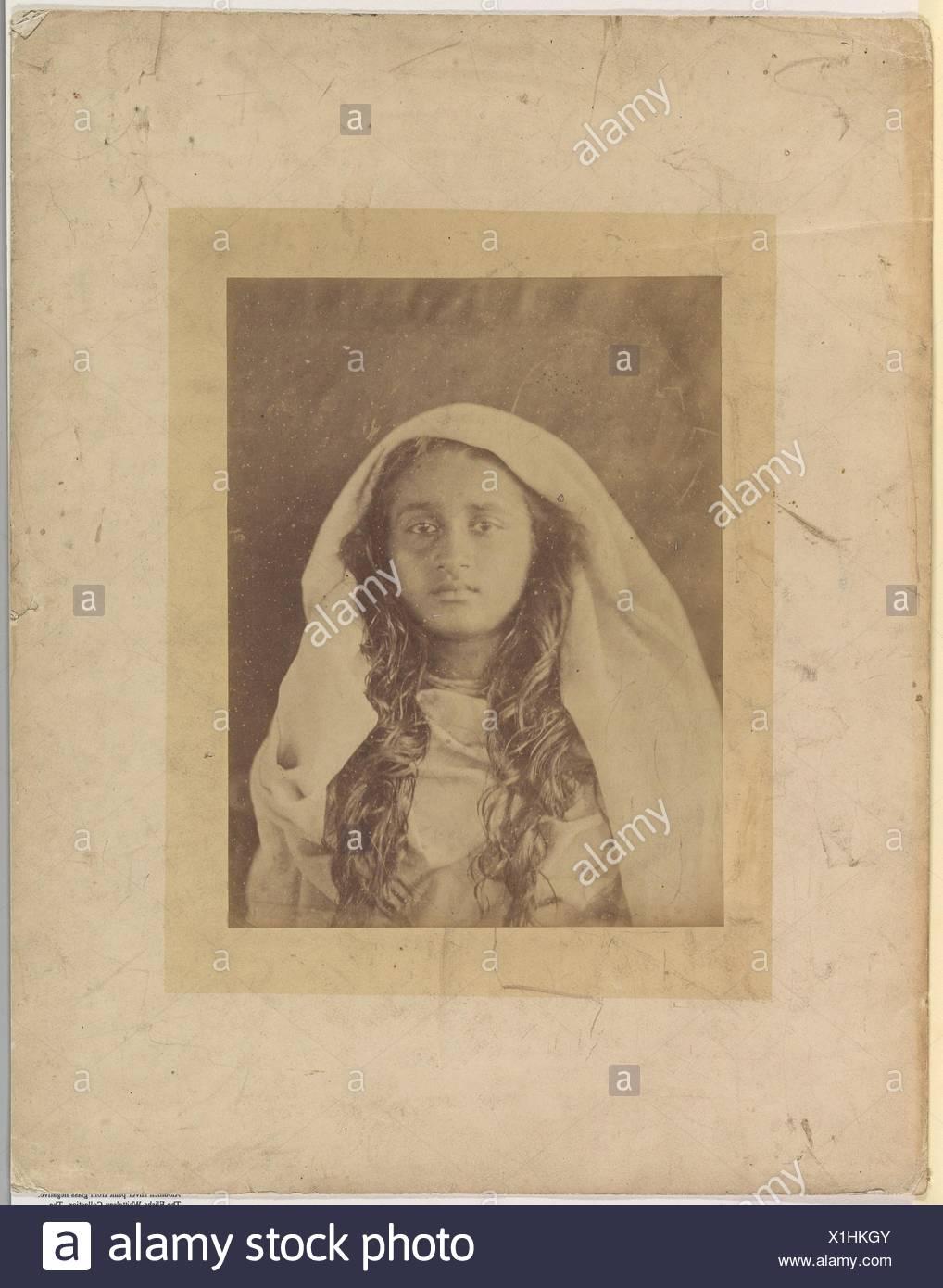 Ceylonese Woman. Artist: Julia Margaret Cameron (British (born India), Calcutta 1815-1879 Kalutara, Ceylon); Date: 1875-79; Medium: Albumen silver Stock Photo
