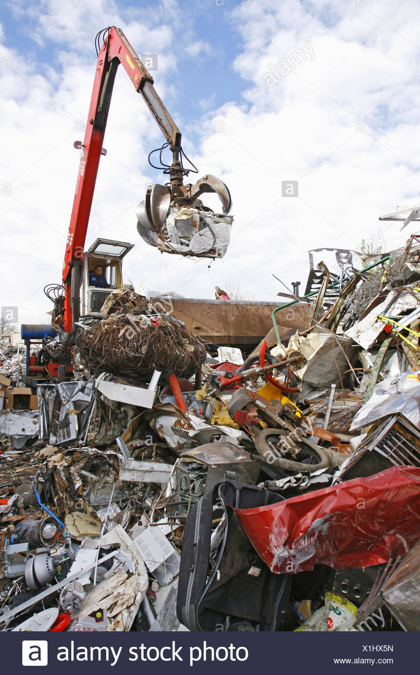Metal recycling facility. Lleida, Catalonia, Spain - Stock Image