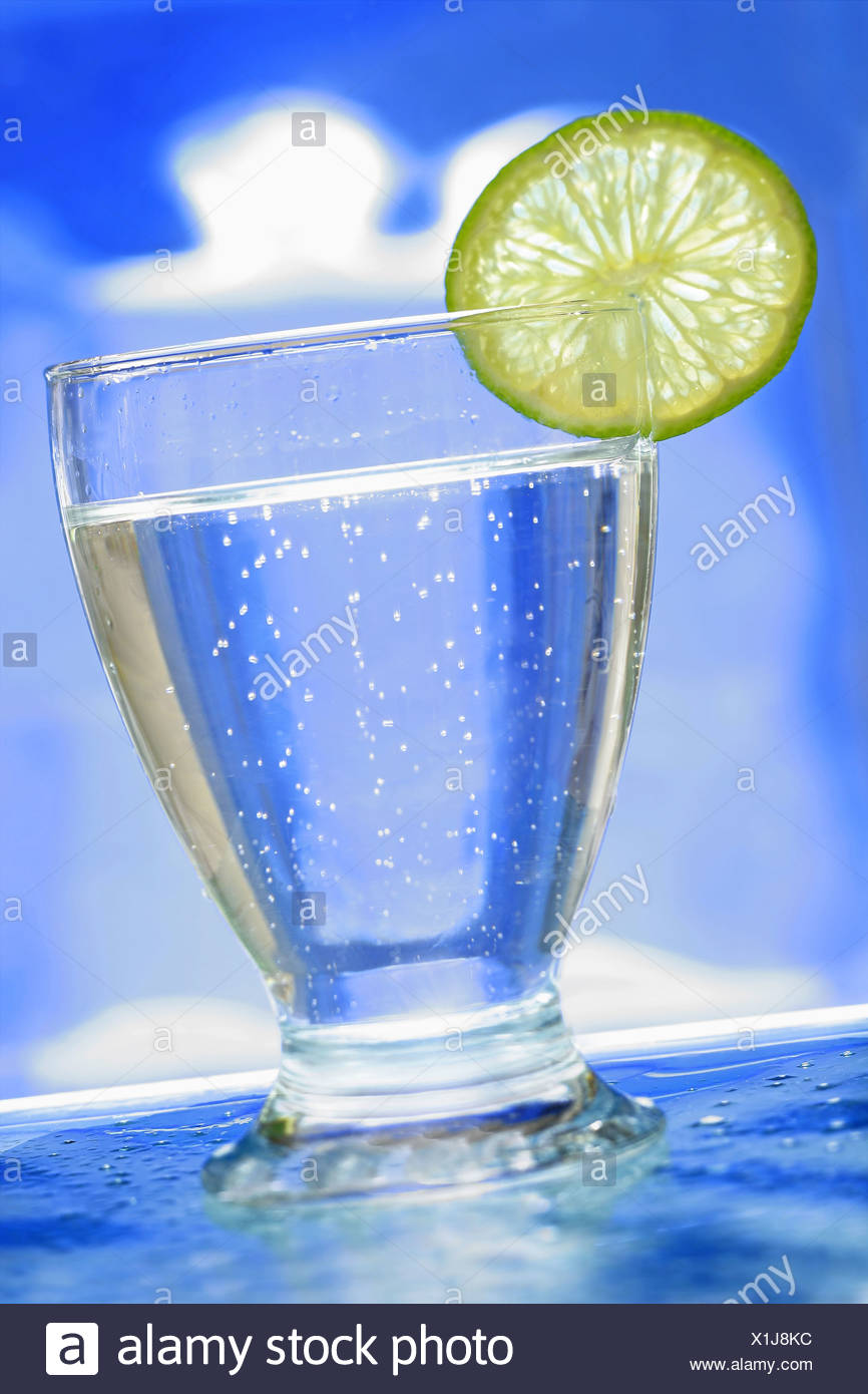 CARBONATED WATER - Stock Image