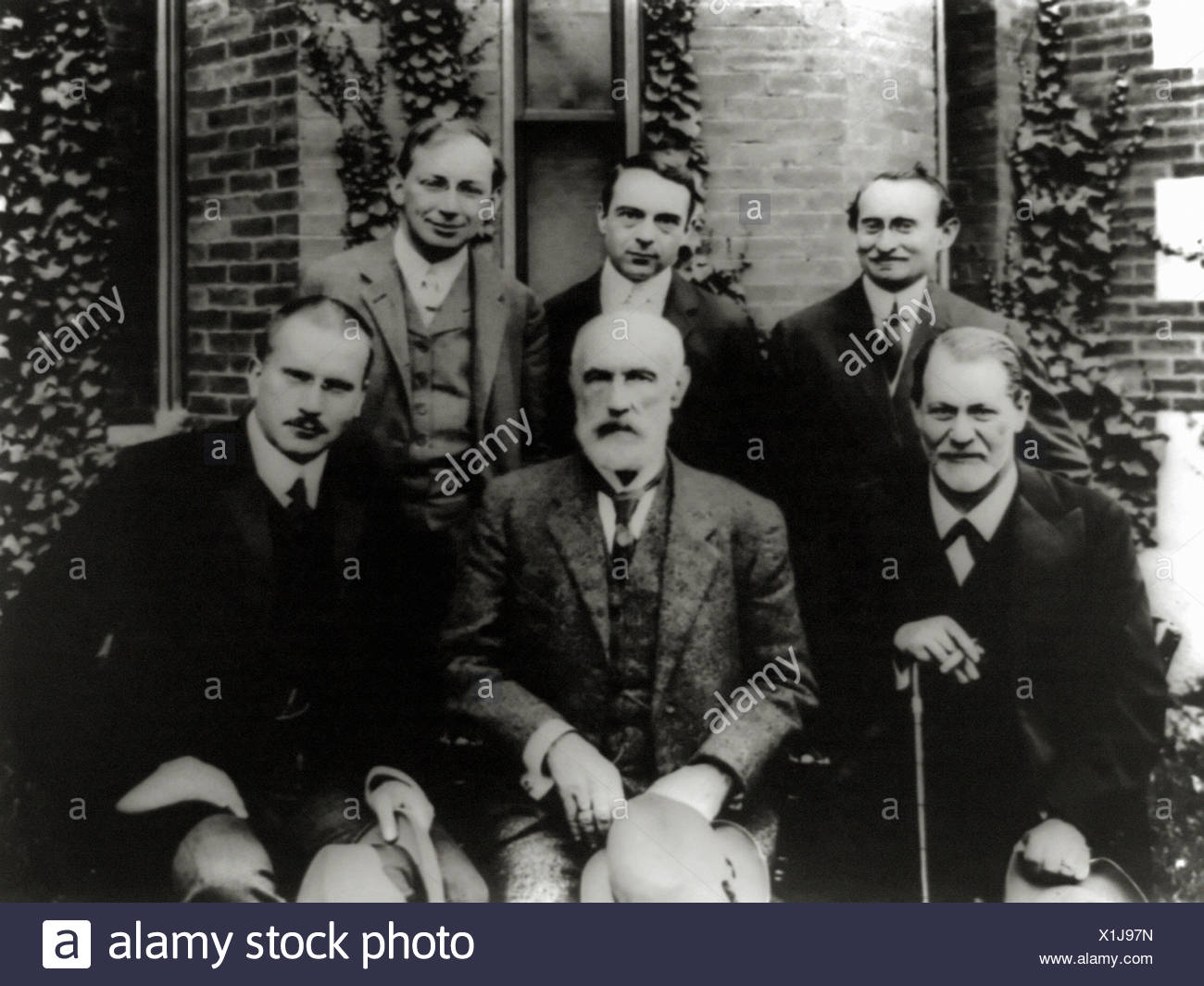 Psychiatrists Freud and Jung at Clark University - Stock Image