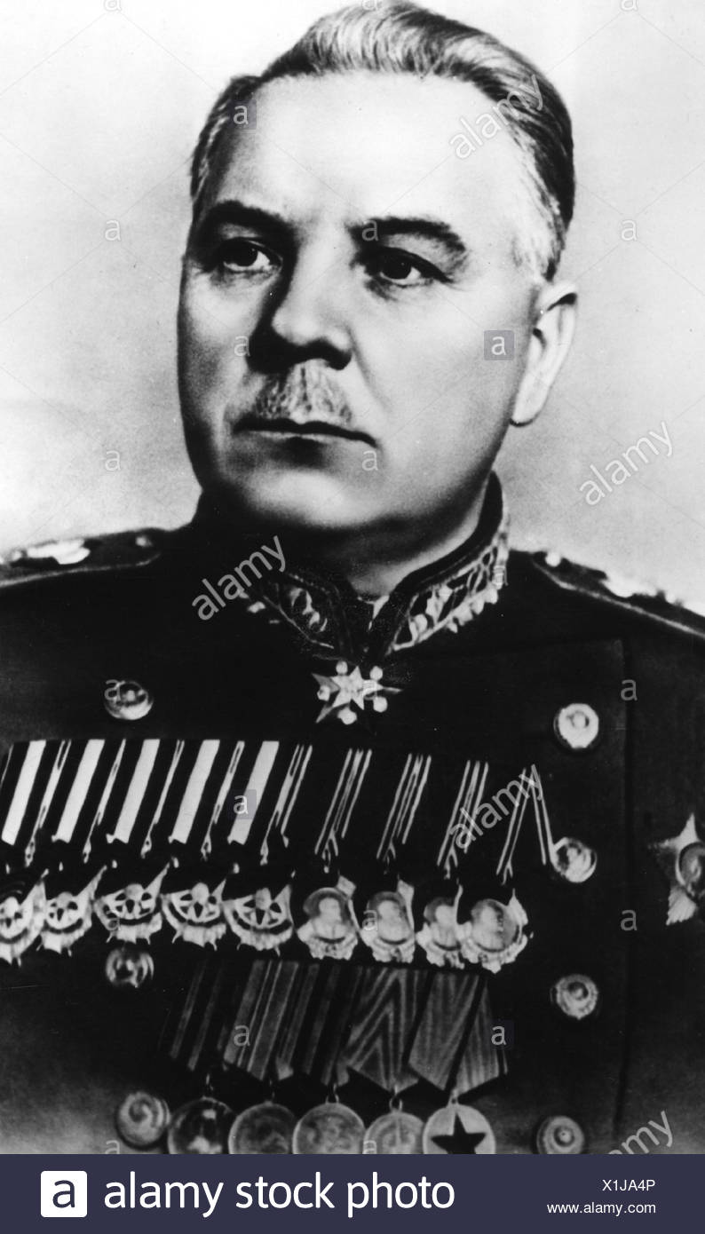 Voroshilov, Kliment, 4.2.1881 - 2.12.1969, Soviet politician (KPSS), statesman and military commander, Marshal of the Soviet Union, secondary Prime Minister 1947 - 1953, portrait, 1950, Stock Photo