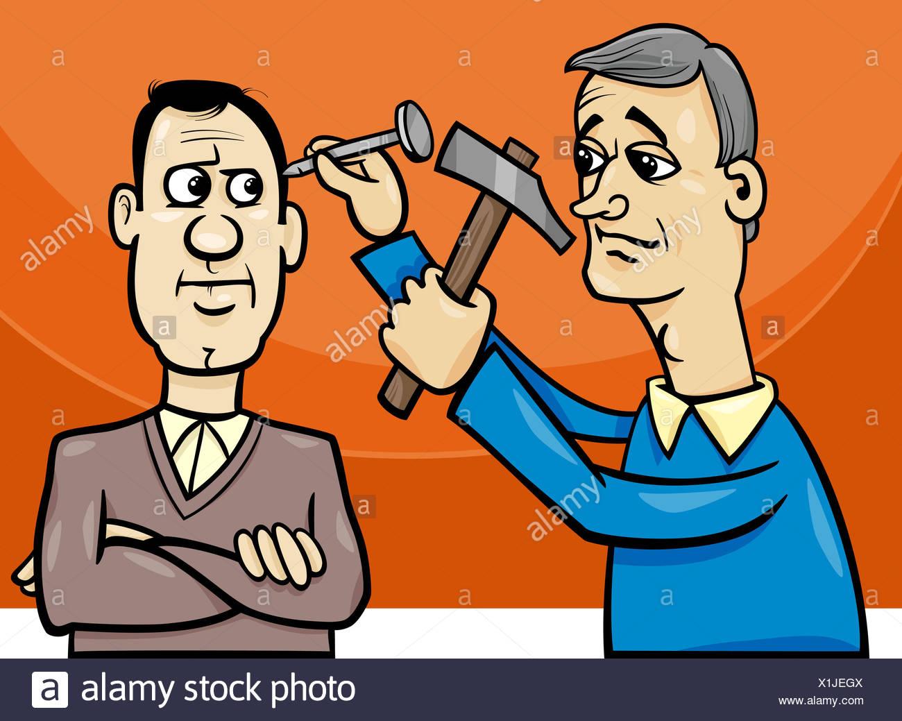 hit the nail on the head cartoon Stock Photo: 276387130 - Alamy