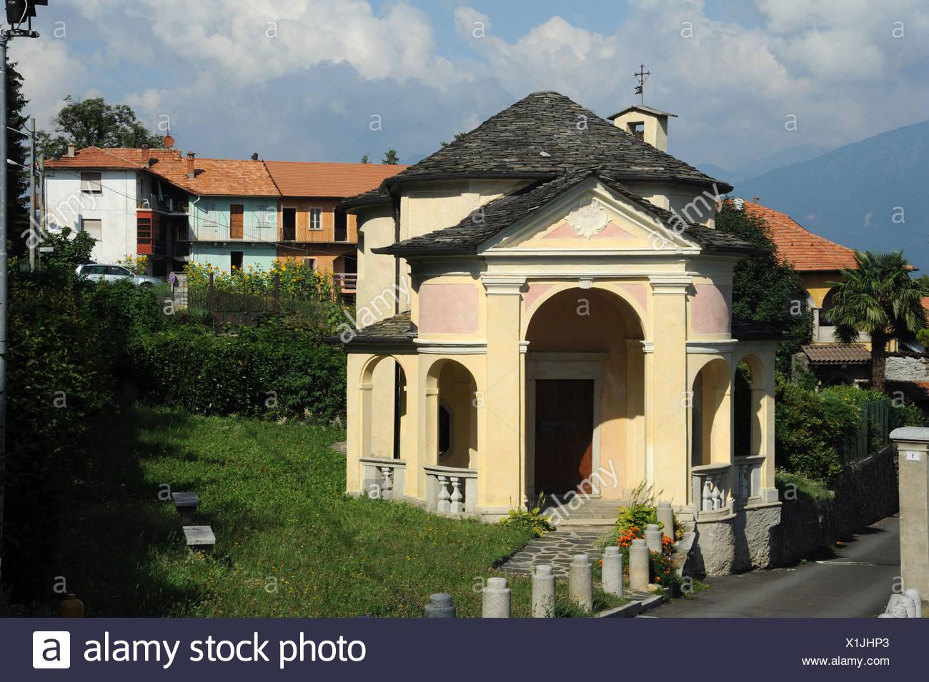 Italy, Piemont, Orta, Vacciago, church, Sant Anna, - Stock Image