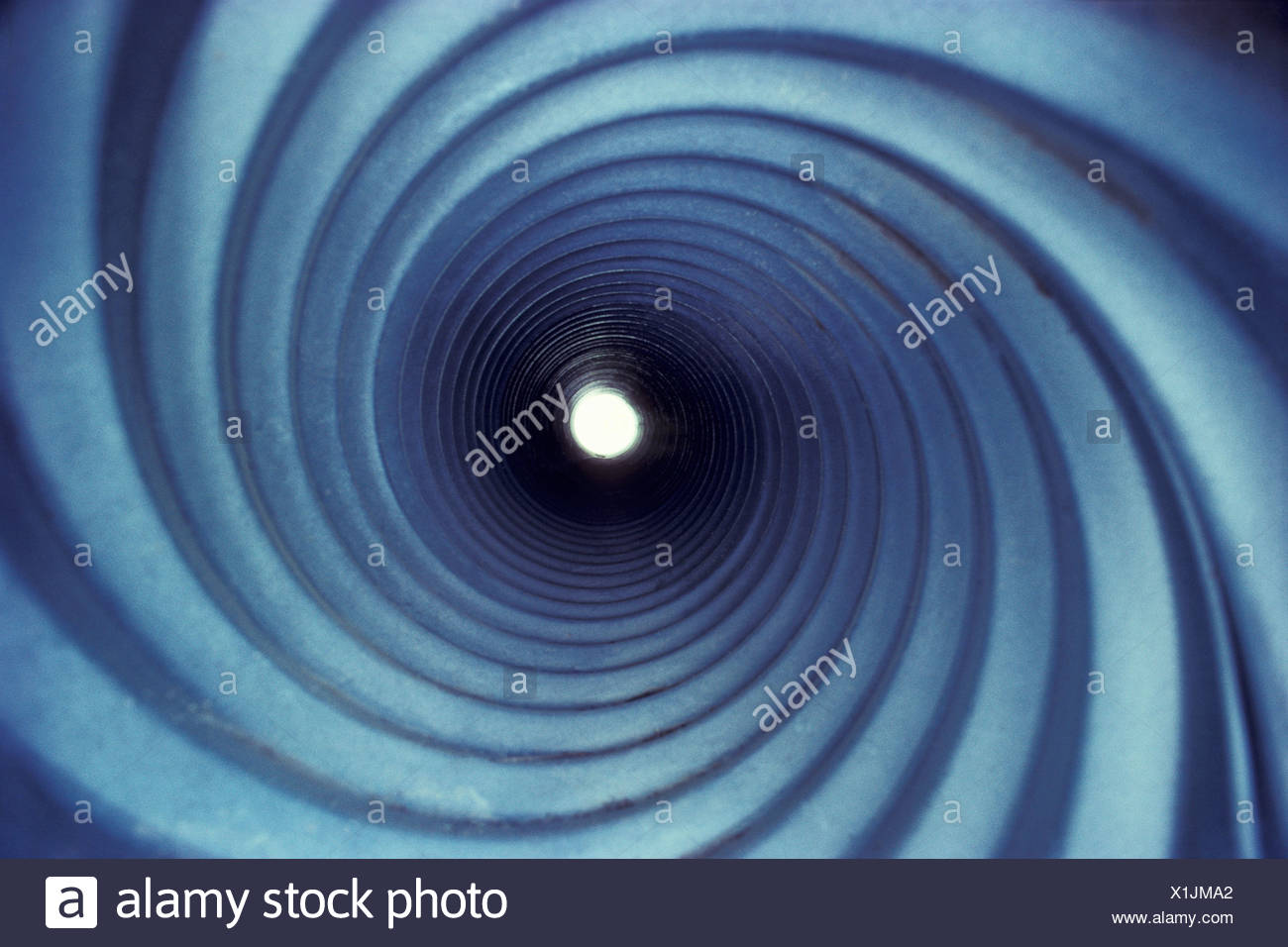 Galvanized Steel Culvert Pipe, Saint-Georges, Beauce, Quebec, Canada - Stock Image