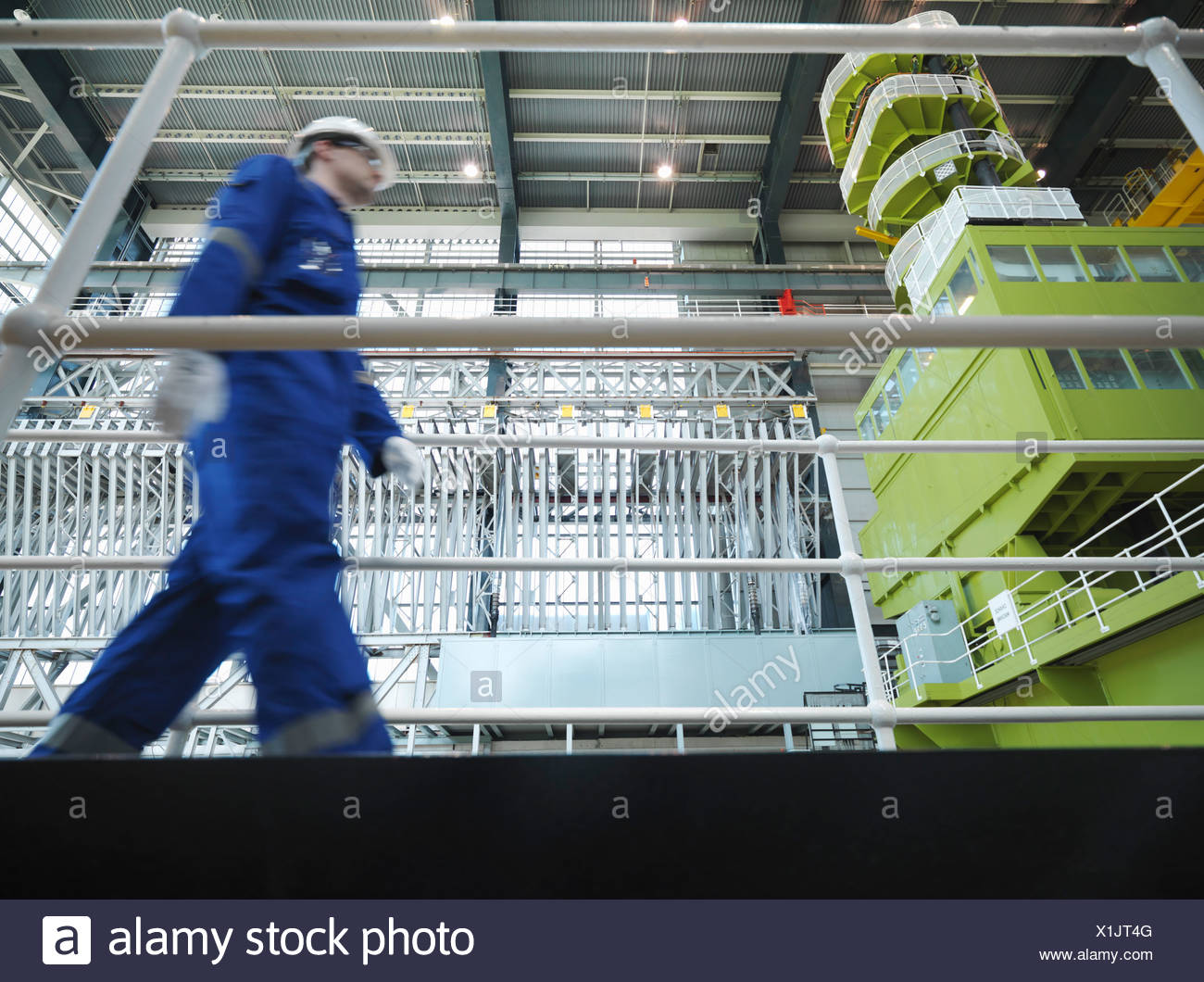 Engineer in Charging Hall - Stock Image