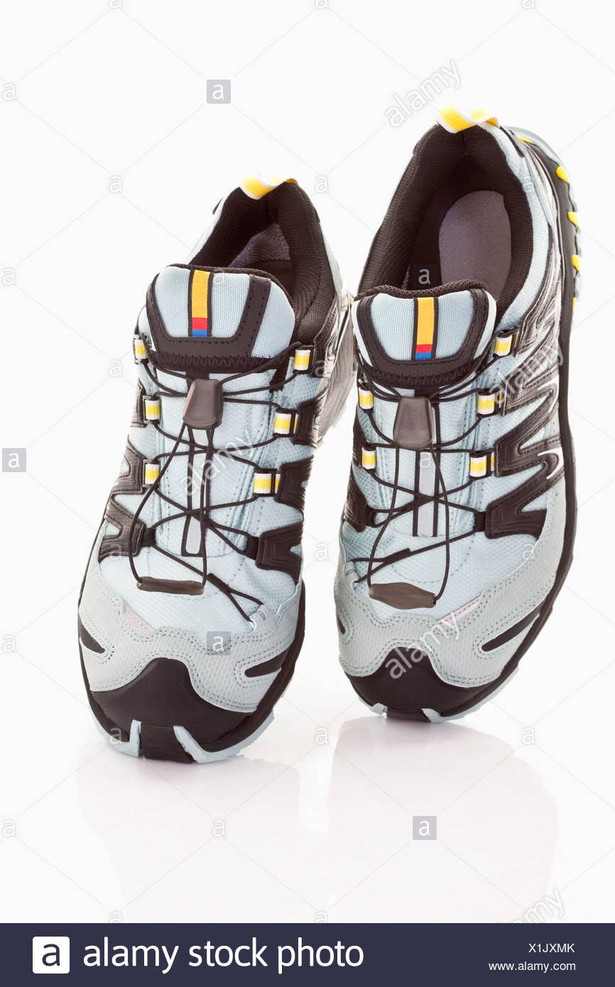 Close up of running shoes on white background Stock Photo