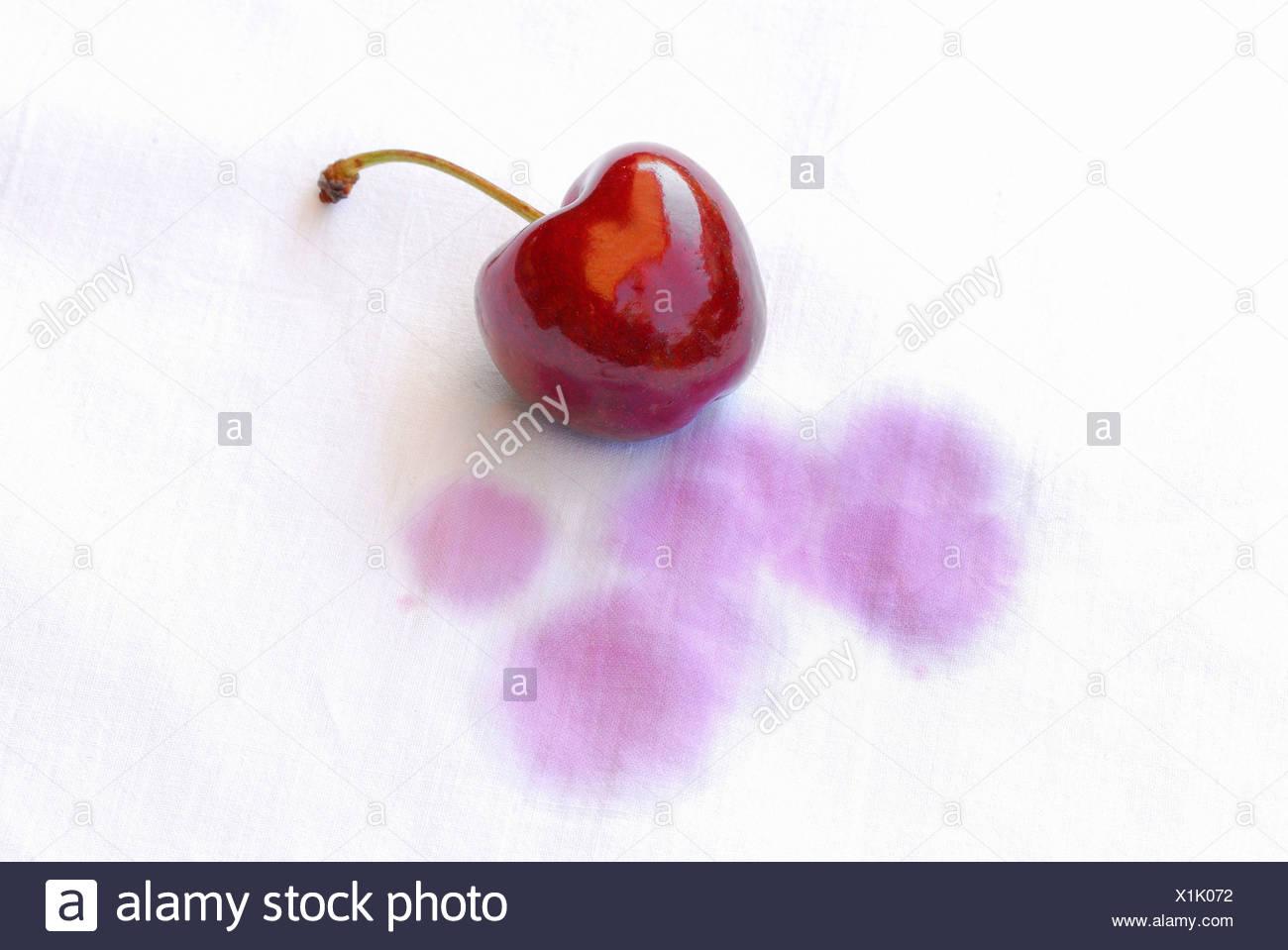 Cherry stain - Stock Image
