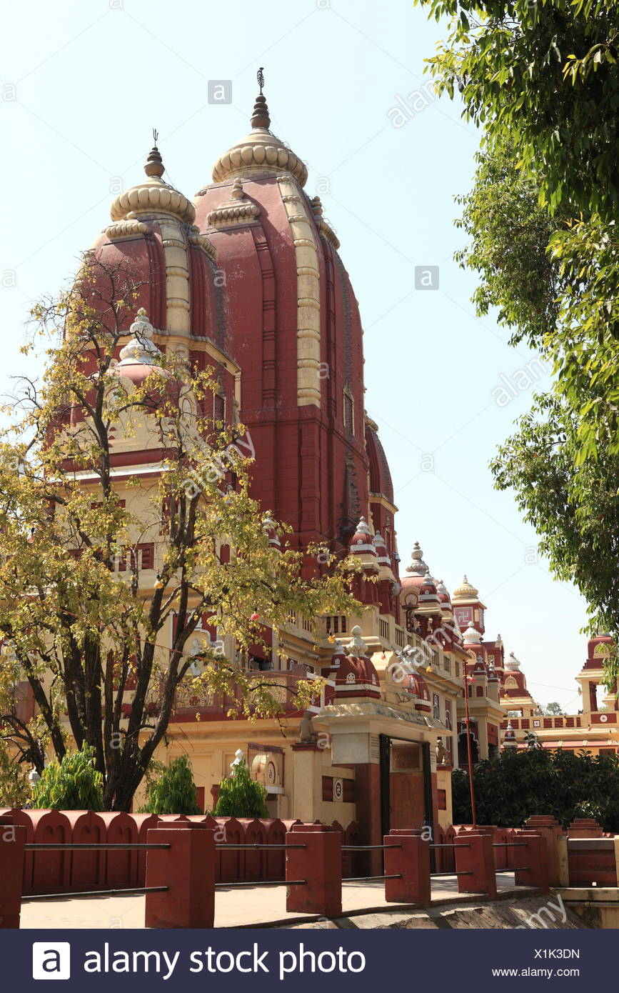 iskcon temple in delhi india Stock Photo