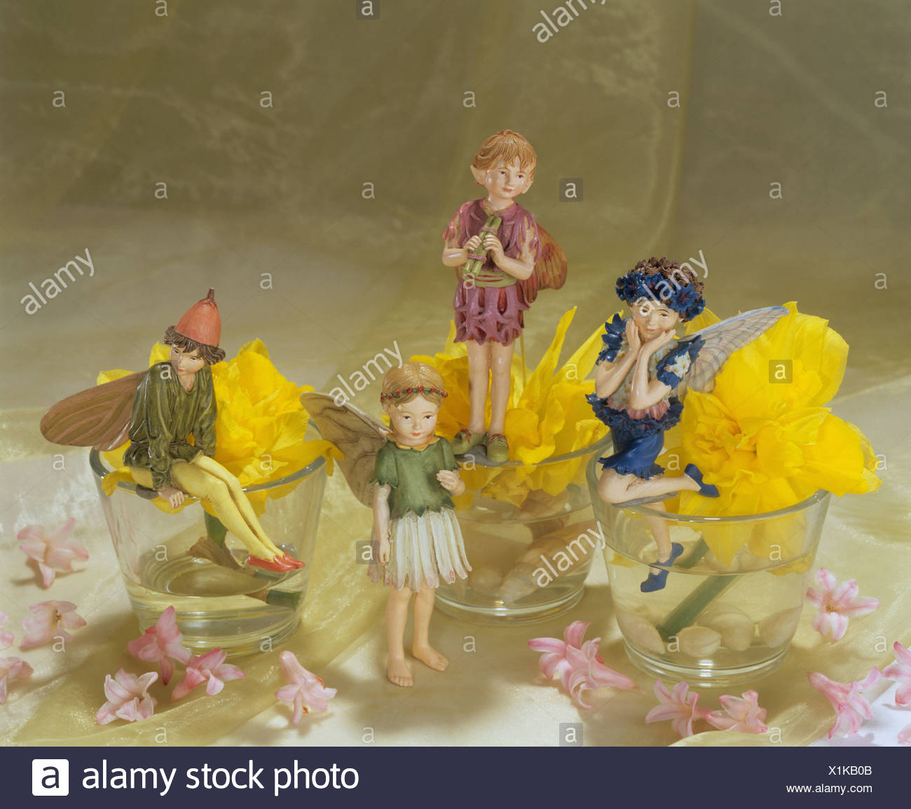 blossoms and Flower Fairies - Stock Image