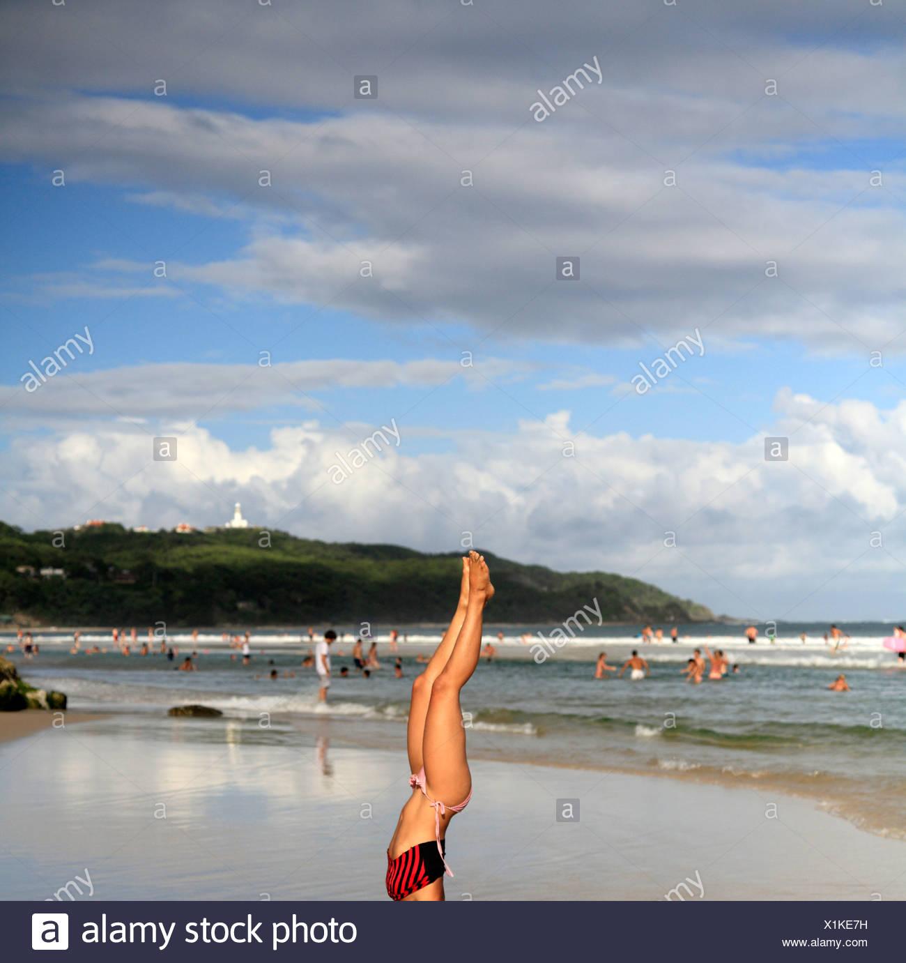 beach,australia,byron bay - Stock Image