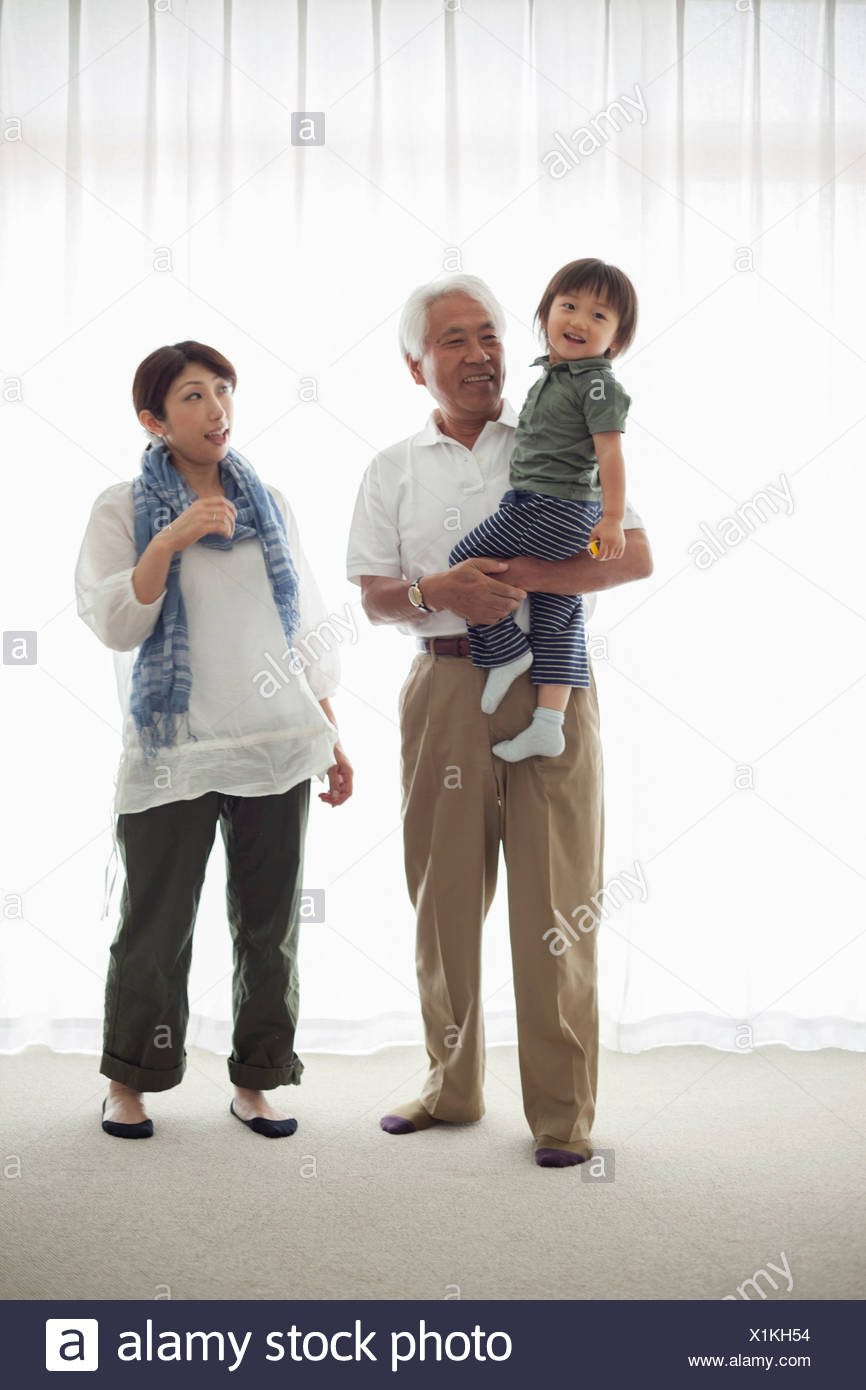 Three generation family, portrait Stock Photo