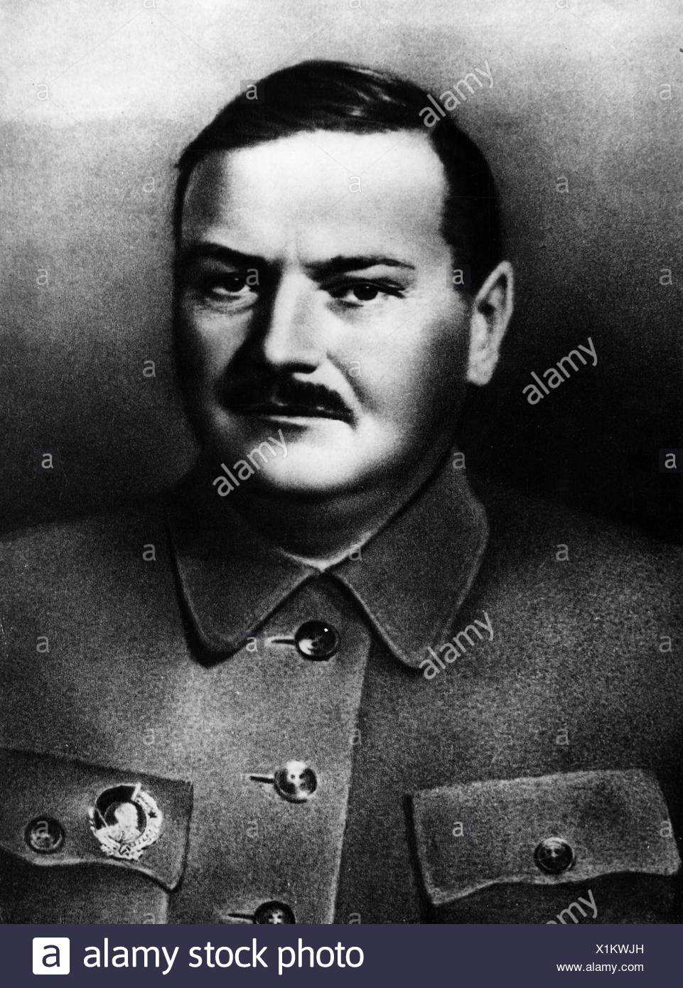 Zhdanov, Andrei Alexandrovich, 26.2.1896 - 31.8.1948, soviet politician (CPSU), portrait, 1930s, Additional-Rights-Clearances-NA - Stock Image