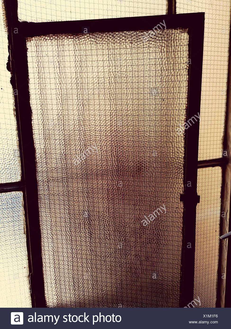 Detail Of Wire-Reinforced Glass Window Stock Photo: 276420794 - Alamy