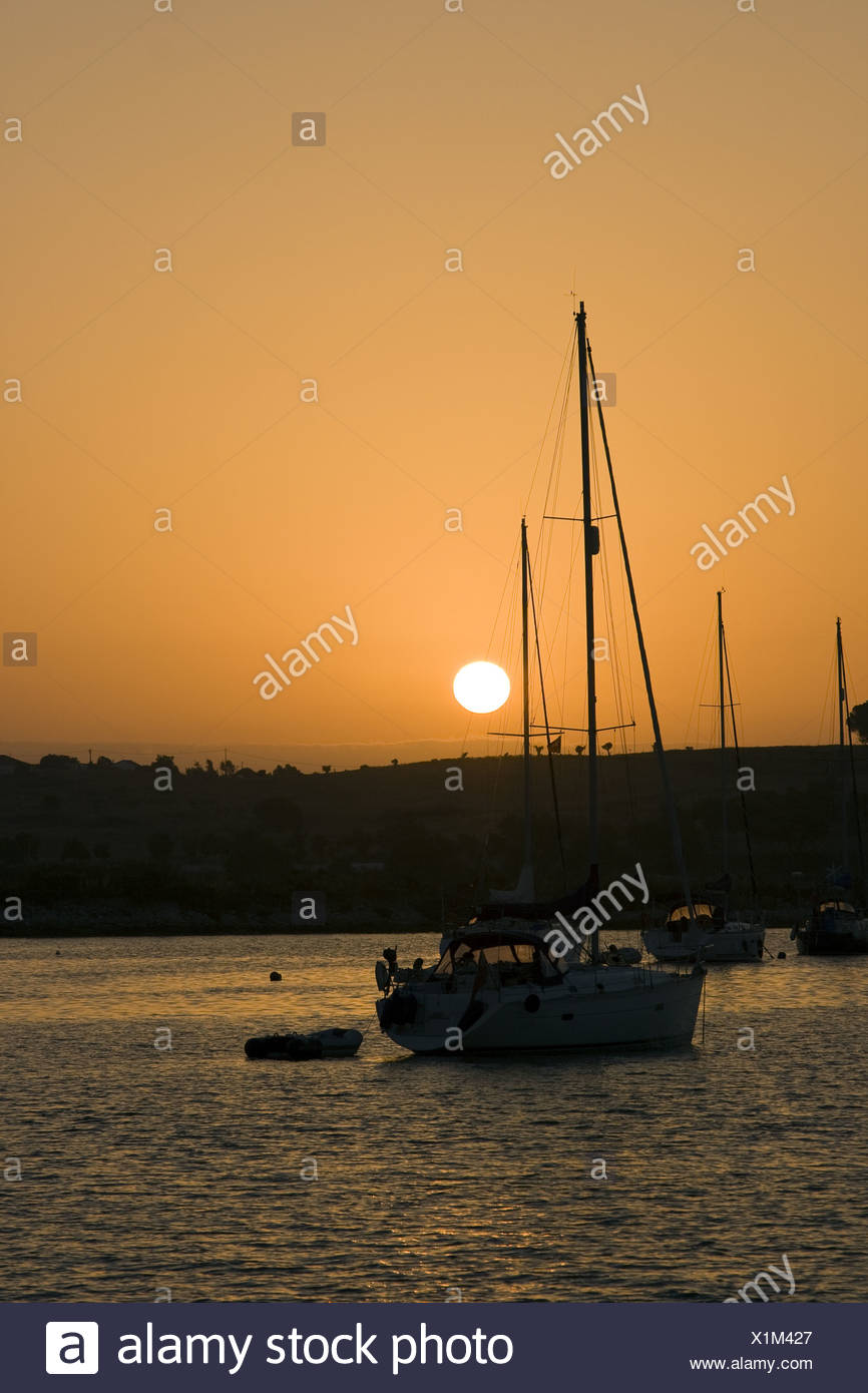 sailing boat in the habou - Stock Image