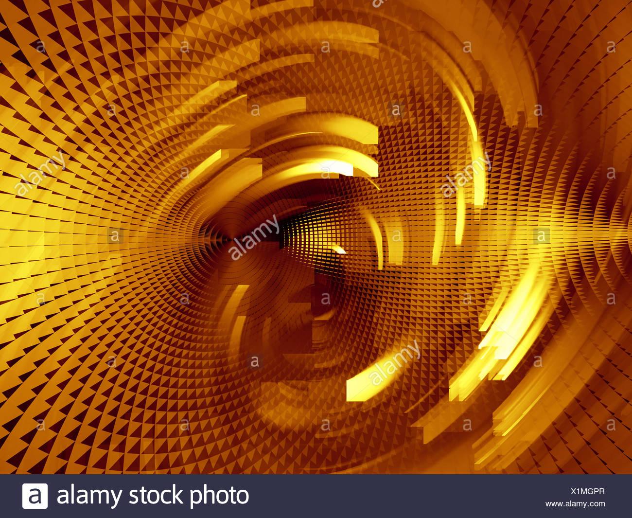 Arrangement Colour Space Golden Screen Paint Abstract