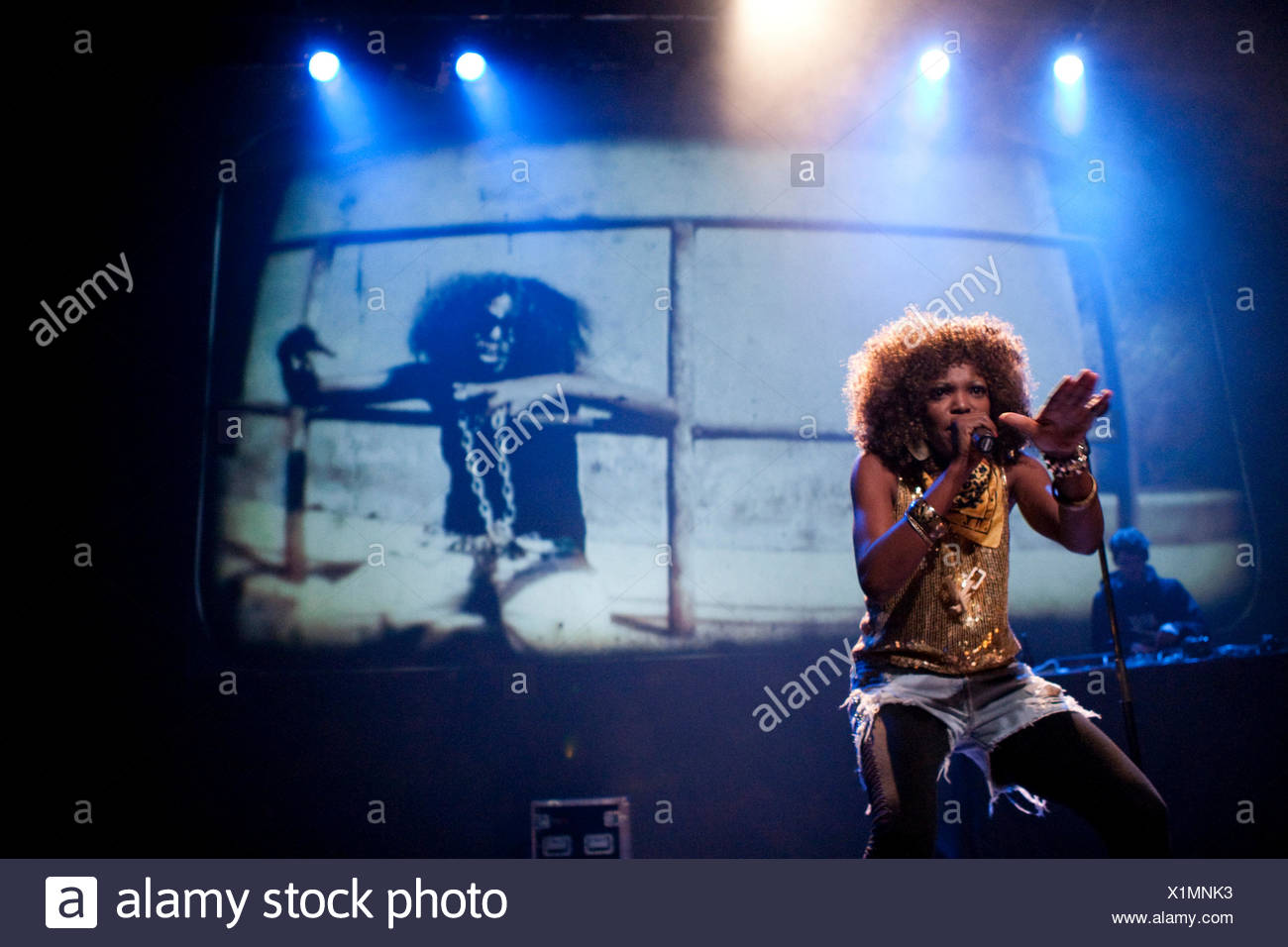 The Jamaican Meta Dancehall singer Terry Lynn live in the Suedpol Lucerne venue, Switzerland - Stock Image