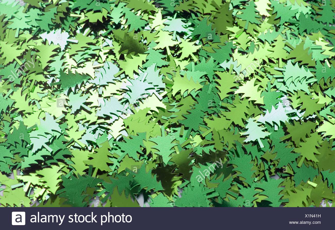 Foil Christmas Trees - Stock Image