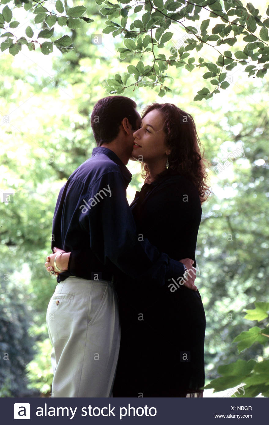 Egyptian man and european woman in love - Stock Image