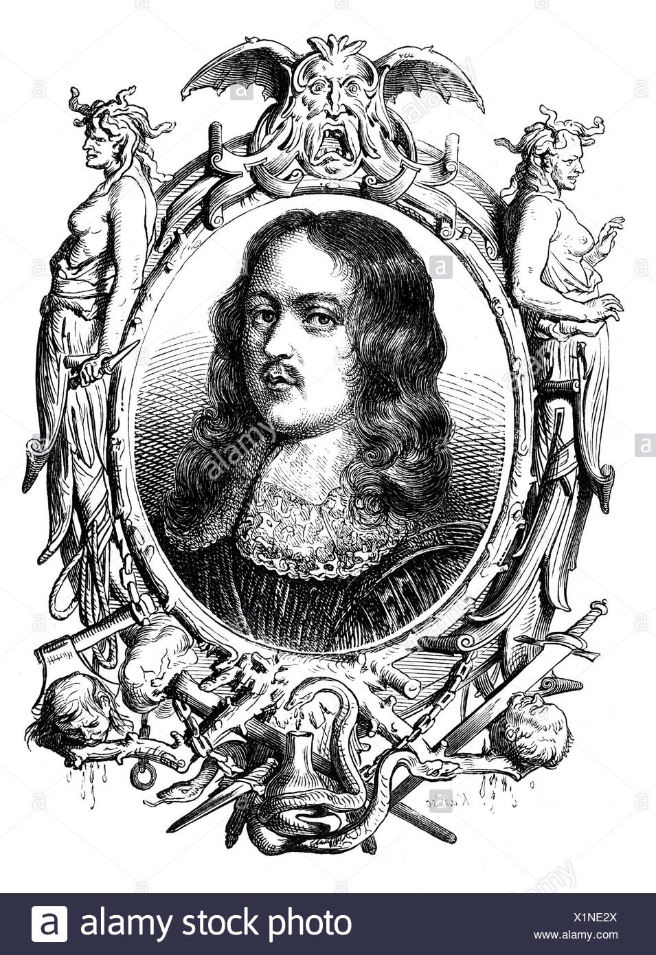 Hales, Edward, 1576 - 1654, English politician, Member of the Long Parliament 1640 - 1645, portrait, wood engraving, 19th century, Additional-Rights-Clearances-NA - Stock Image