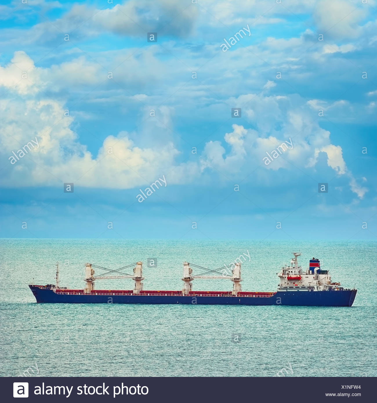 Bulk Carrier Ship - Stock Image