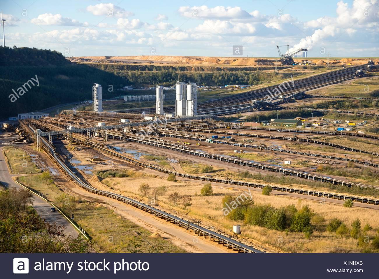 Ignite open-pit mining, Hambach Stock Photo