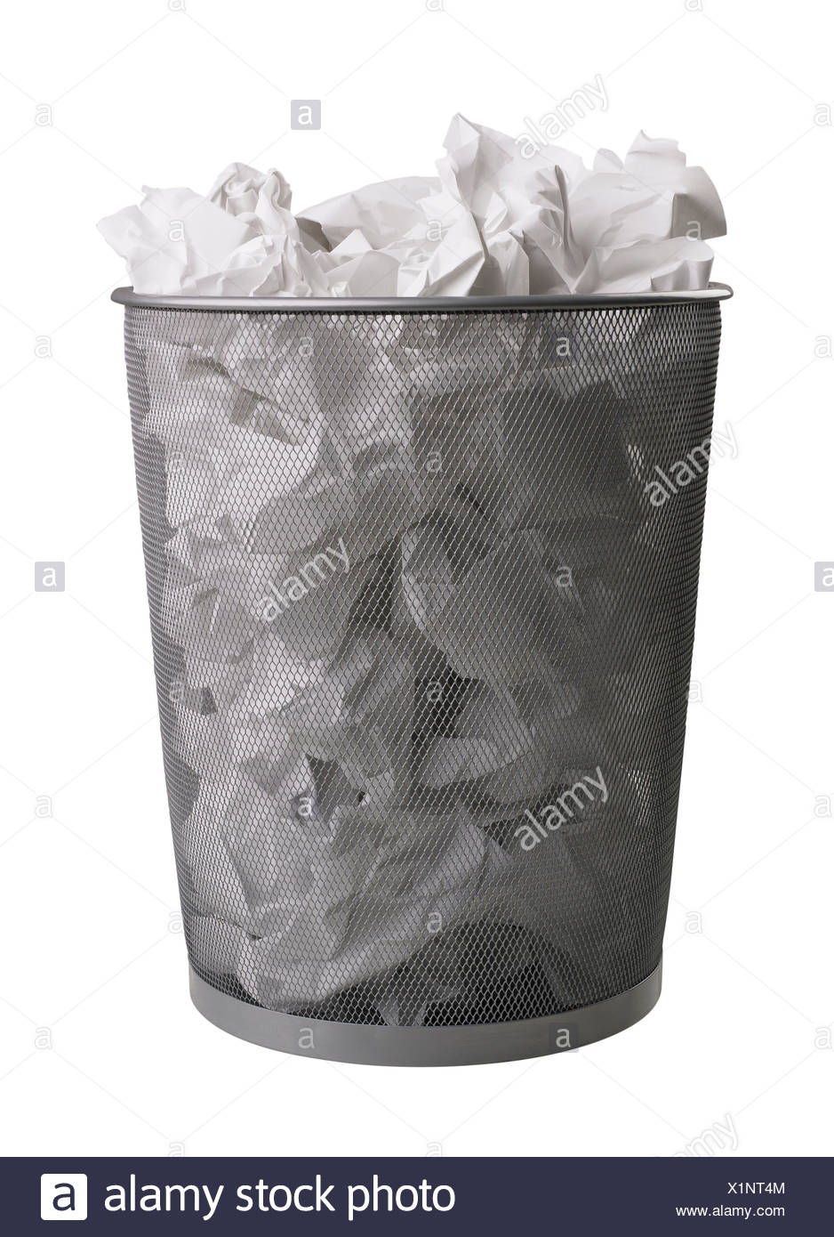Still life of trash can - Stock Image