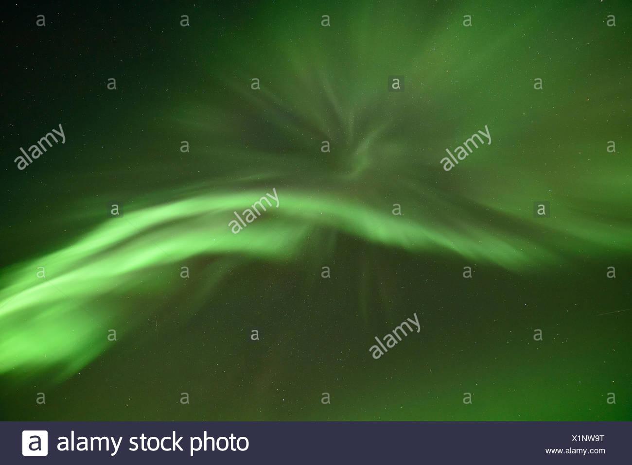 Northern Lights in the Abisko National Park, Sweden - Stock Image
