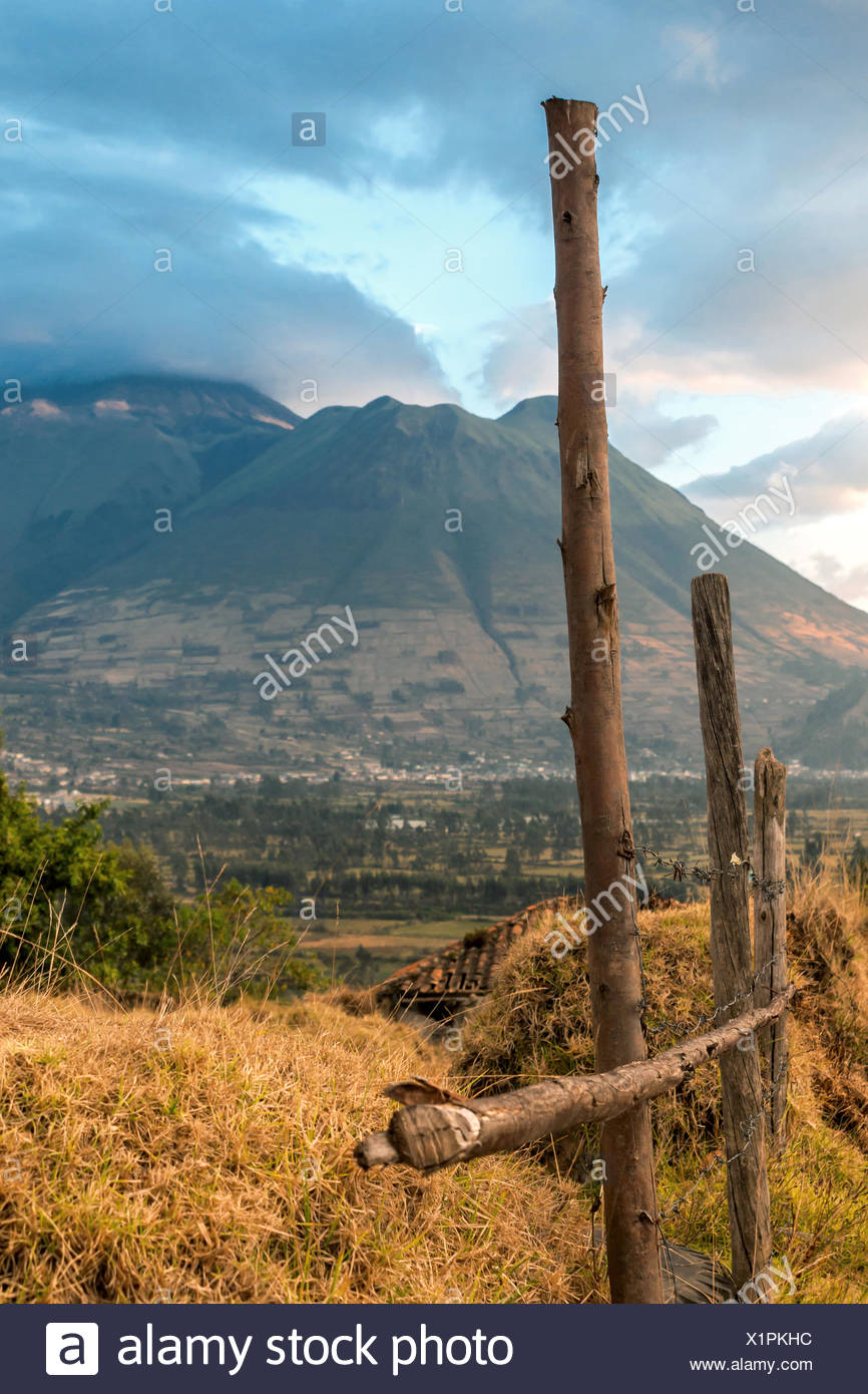 View of the Imbabura Volcano in the Ecuadorian And - Stock Image