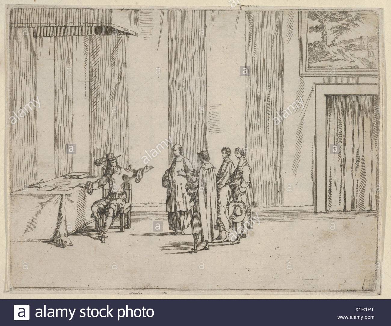 Francesco I d'Este Takes Particular Care to Ensure that Justice is Observed, from L'Idea di un Principe ed Eroe Cristiano in Francesco I d'Este, di - Stock Image