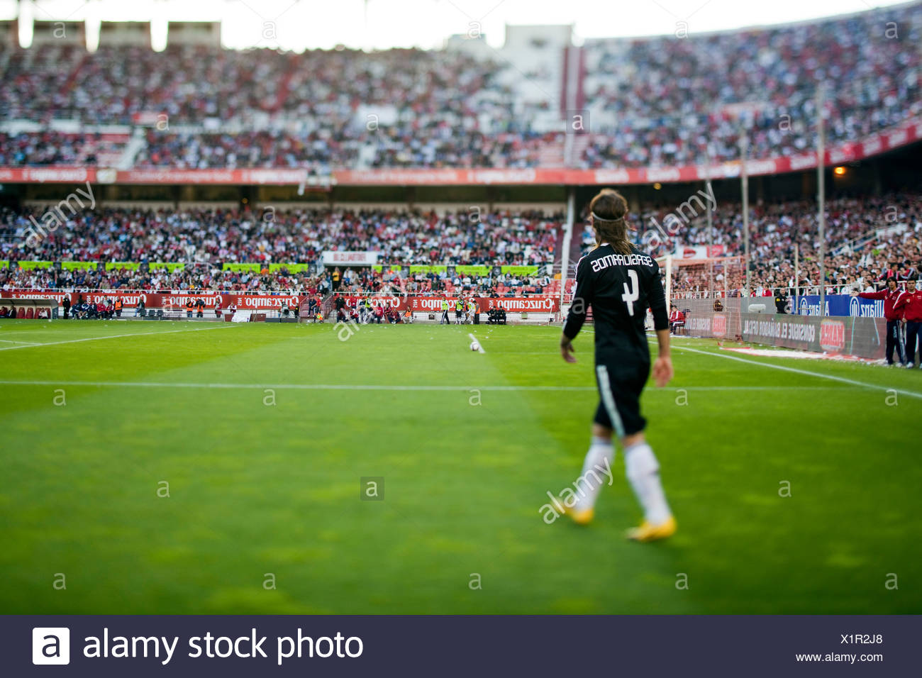 Seville, Spain, Sergio Ramos, Real Madrid CF - Stock Image