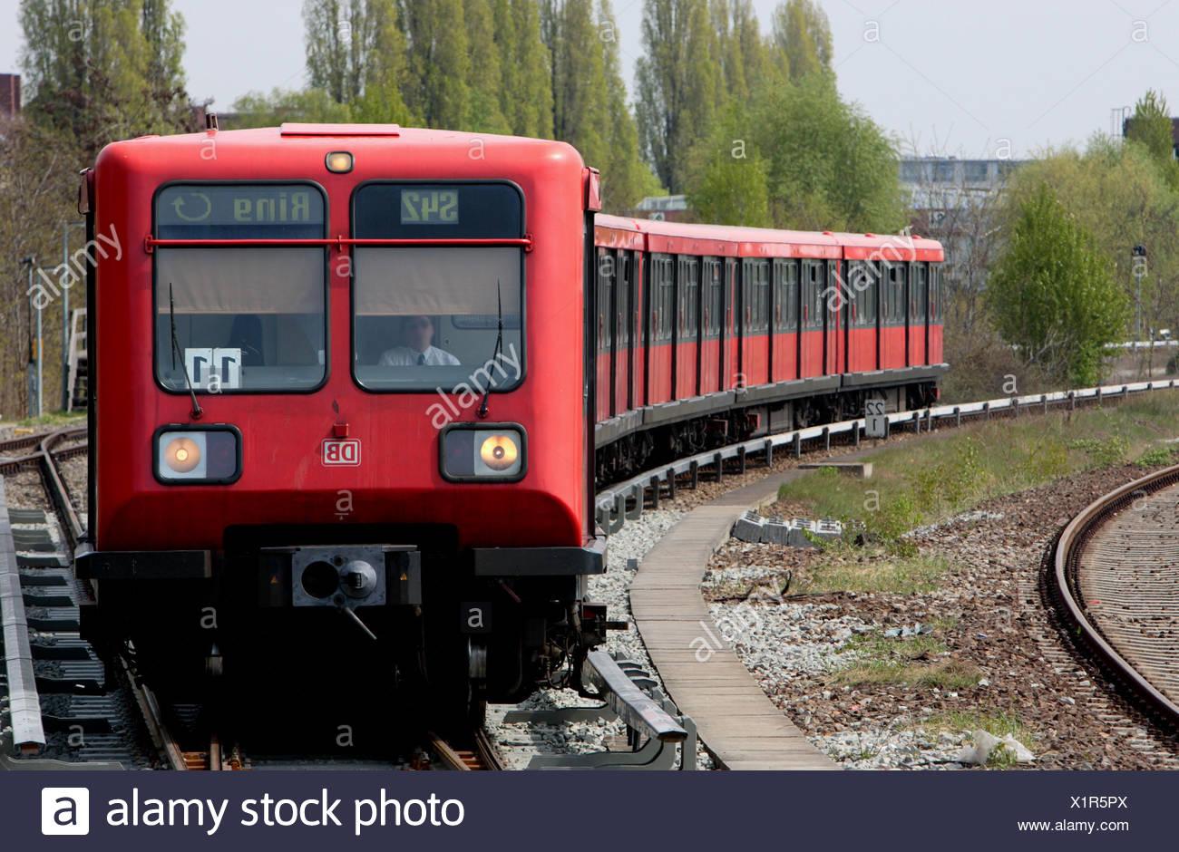 Berlin S-Bahn train line 42 - Stock Image