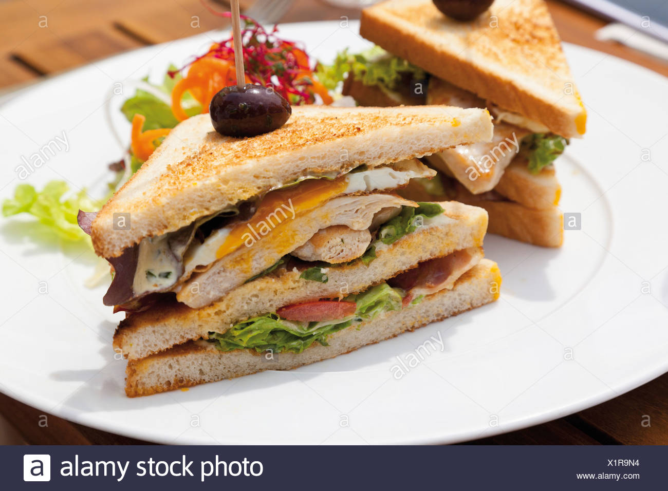 Close up of sandwiches - Stock Image