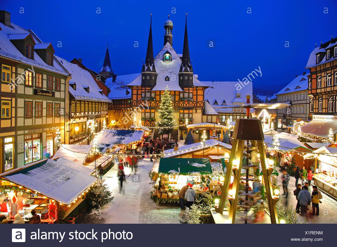 Wernigerode Weihnachtsmarkt.Christmas Market In Wernigerode Stock Photo 276497024 Alamy