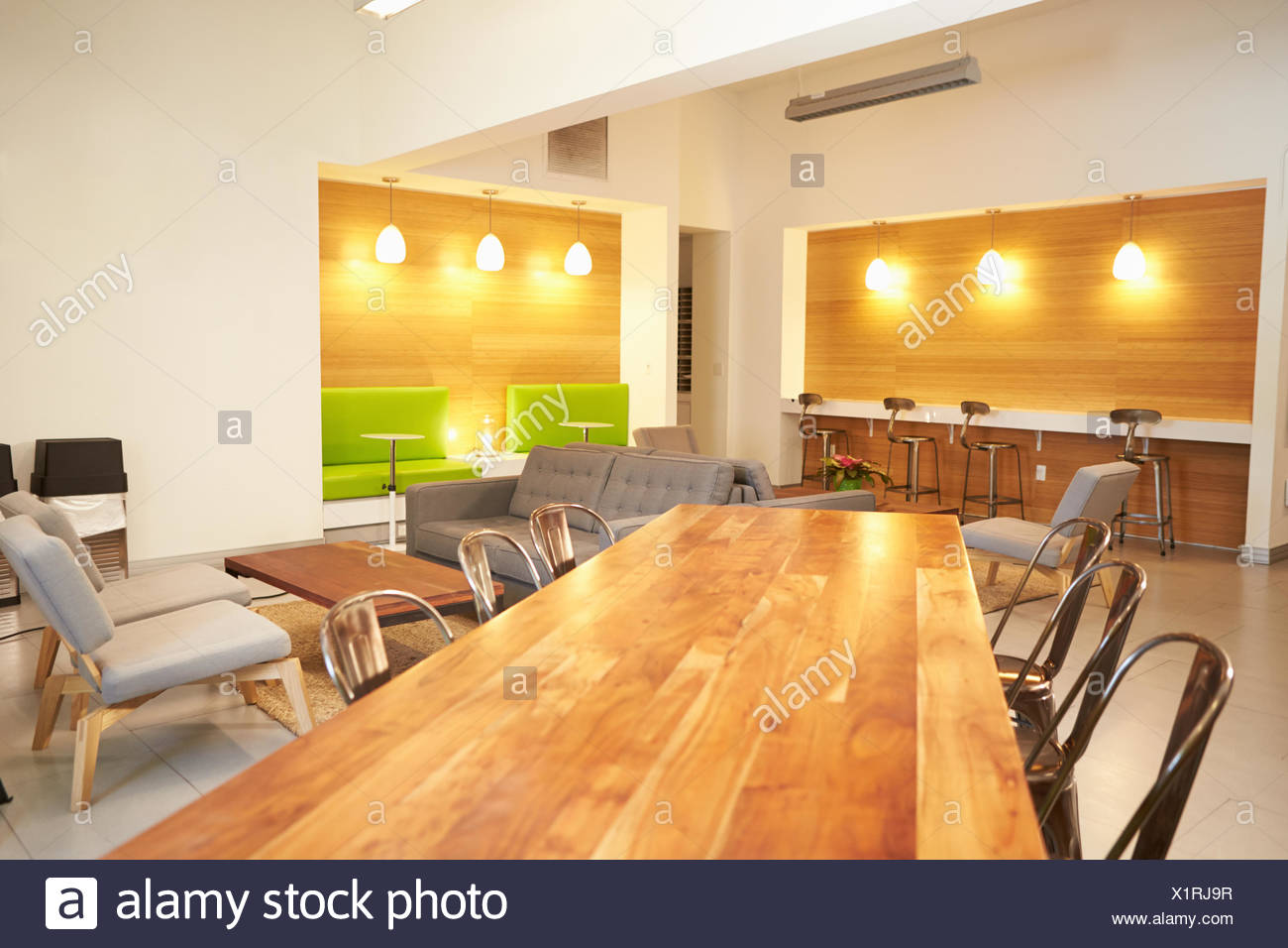 Empty Relaxation Area In Design Studio - Stock Image
