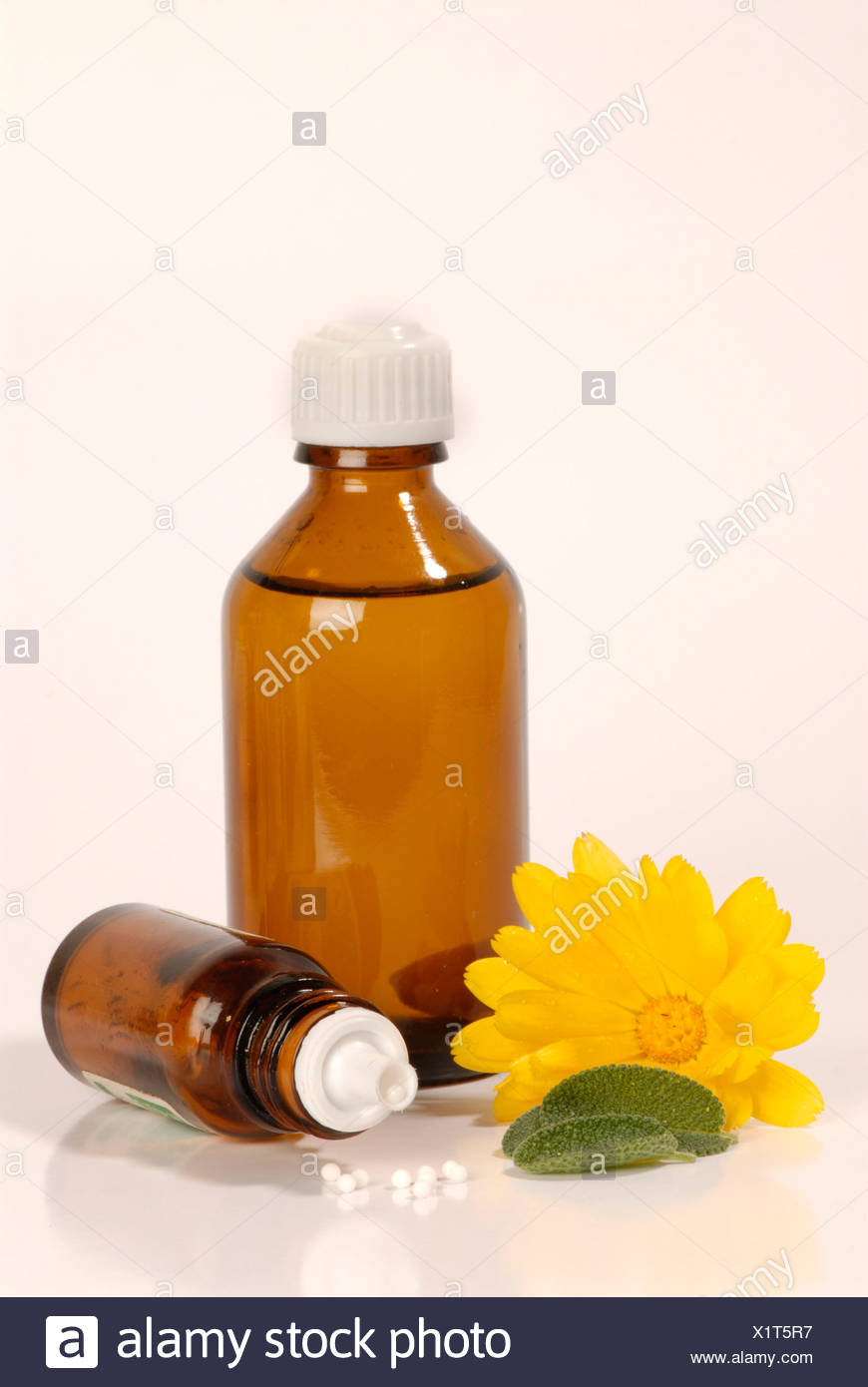Homeopathic remedies Stock Photo