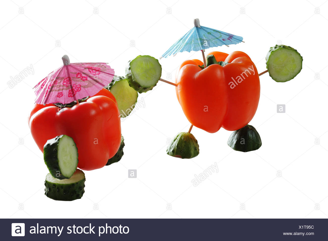Two paprika personages - Stock Image