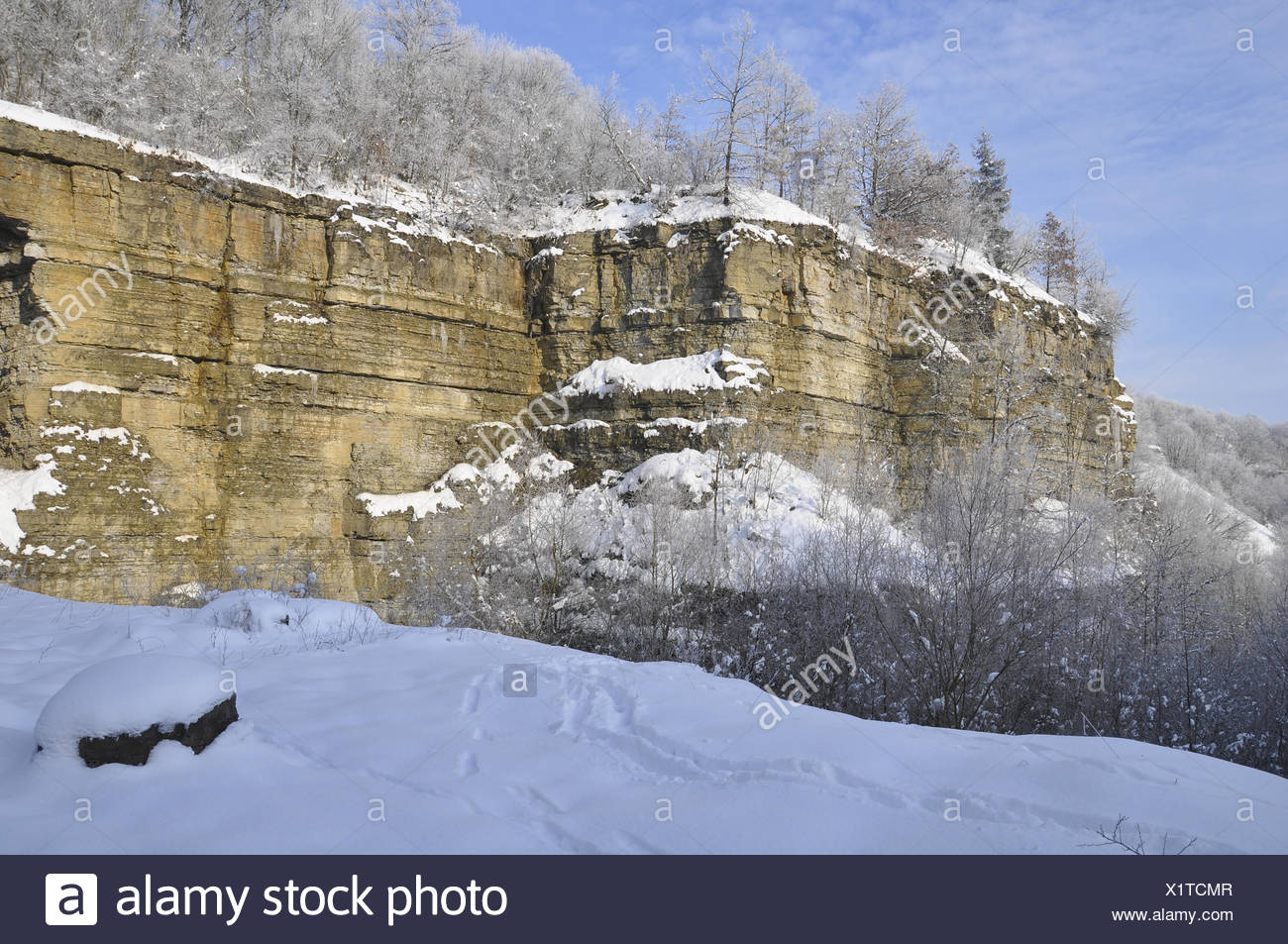 Stone Quarry in Schwaebisch Hall - Stock Image