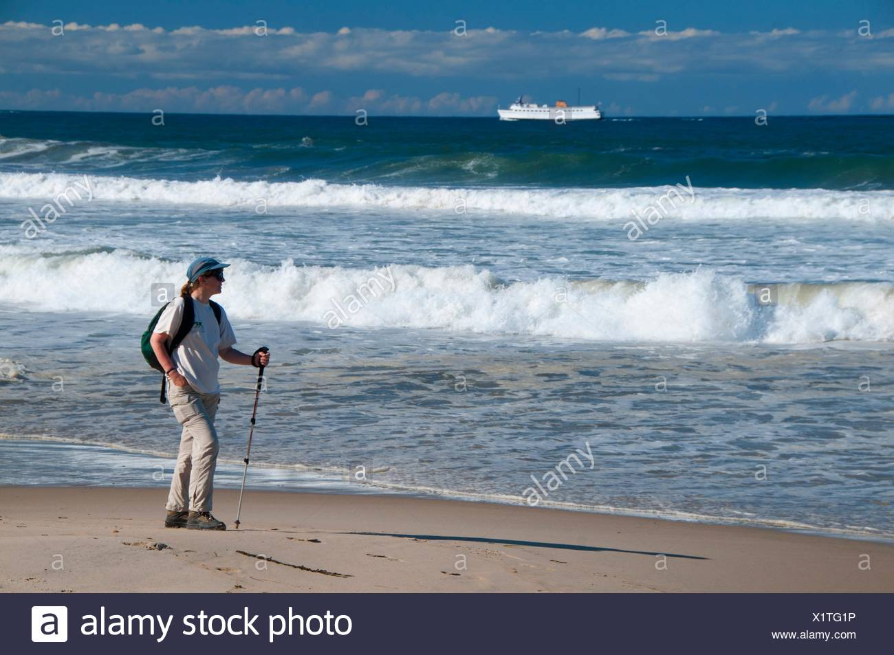 Crescent Beach, New Shoreham, Block Island, Rhode Island. - Stock Image