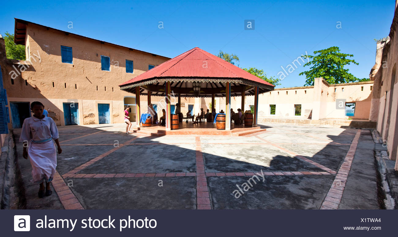 Prison Island, formerly the site where slaves were held prisoner before their shipping, Zanzibar, Tanzania, Africa - Stock Image