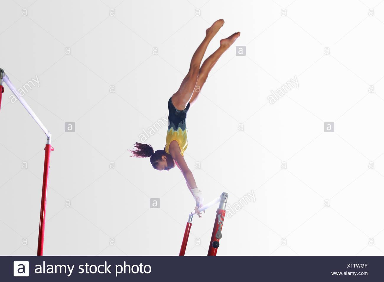 gymnastics bar stock photos gymnastics bar stock images alamy
