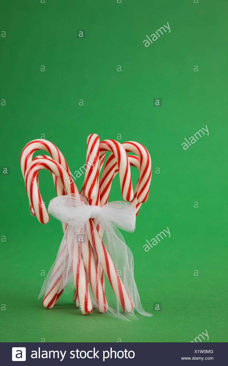 Bunch of candy canes - Stock Image